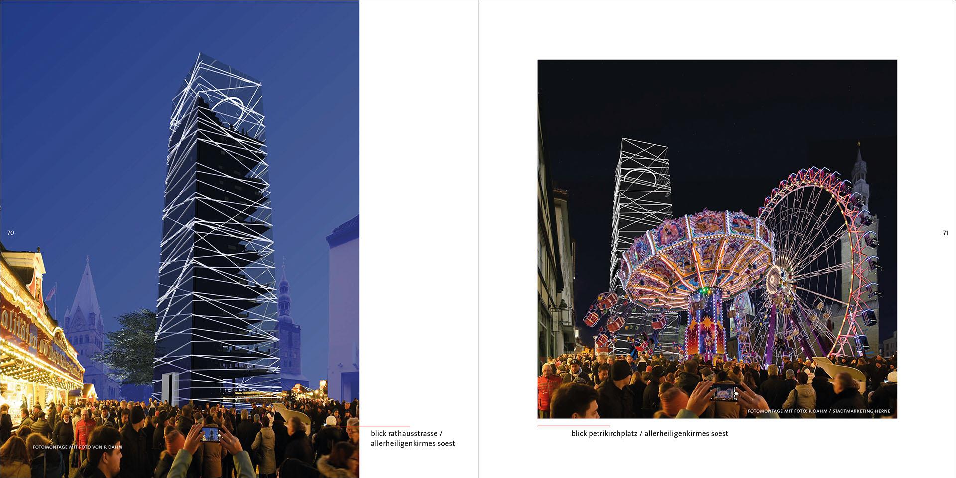 Architektur, Studie, Turm, Soest, Neu, Glas, Altstadt, Modern